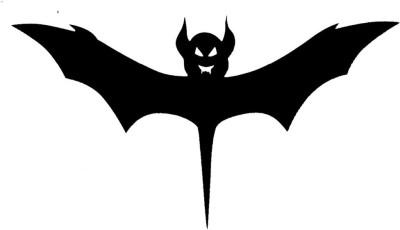 Smilendeal T2036 Bat Temp Body Tattoo - Black(Bat)