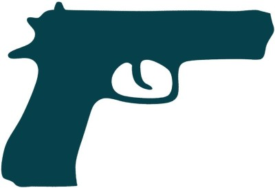 Smilendeal T2061 Gun Temp Body Tattoo - Green(Gun)