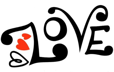 Smilendeal T2148 Love Temp Body Tattoo - Black(Love)