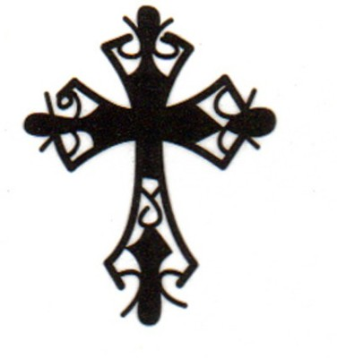 Smilendeal T1530 Removeable Temp Body Tattoo - Cross Style