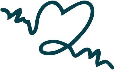Smilendeal T2039 Heart Temp Body Tattoo - Green(Heart)