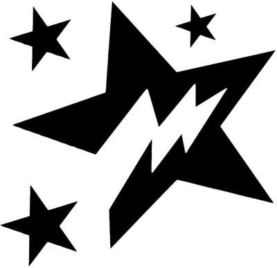 Smilendeal T2011 Star Temp Body Tattoo - Black(Star)