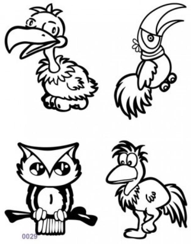 Shimmer Fans Glitter Tattoo Kit (TAPE + GLITTER)(Birds)