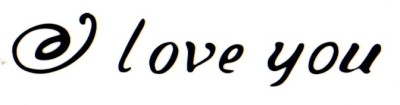 Smilendeal T1635 Removeable Temp Body Tattoo - Love You Style