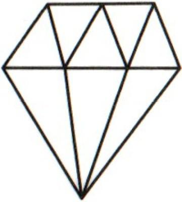 Smilendeal T1598 Removeable Temp Body Tattoo - Diamond Style