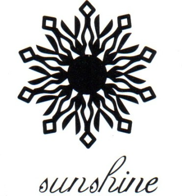 Smilendeal T1801 Removeable Temp Body Tattoo - Sunshine Style