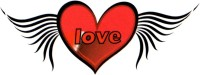 Smilendeal T1630 Removeable Temp Body Tattoo - Heart Wings Style(Heart Wings) best price on Flipkart @ Rs. 299