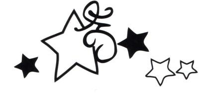 Smilendeal T1950 Stars Temp Body Tattoo(Stars)