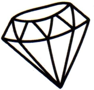 Smilendeal T1641 Removeable Temp Body Tattoo - Diamond Style(Diamond)
