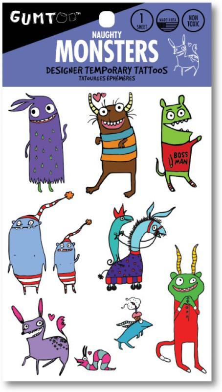 Gumtoo Monsters - Designer Temporary Tattoos(Monsters)