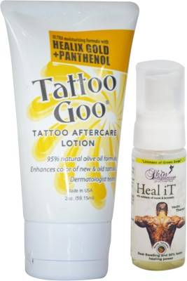 Tattoo Goo Healix Gold + Panthenol Lotion 2oz & Free Heal It