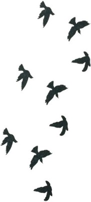 KingdomOfArts.Com Black Birds Temporary Tattoo