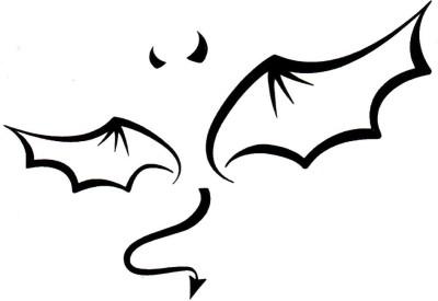 Smilendeal T1813 Monster Wings Temp Body Tattoo(Monster Wings)