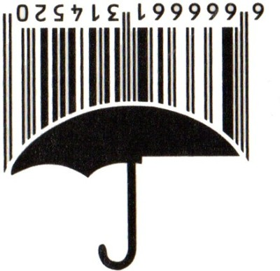 Smilendeal T1755 Removeable Temp Body Tattoo - Barcode Umbrella Style