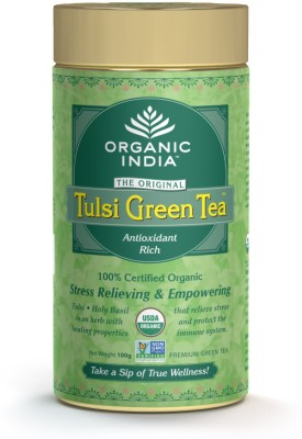 Organic India Tulsi, Green Tea Tea Herbal Infusion(100 g, Tin)