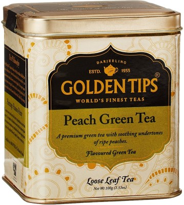 Golden Tips Peach Tea Green Tea(1 Sachets, Tin)