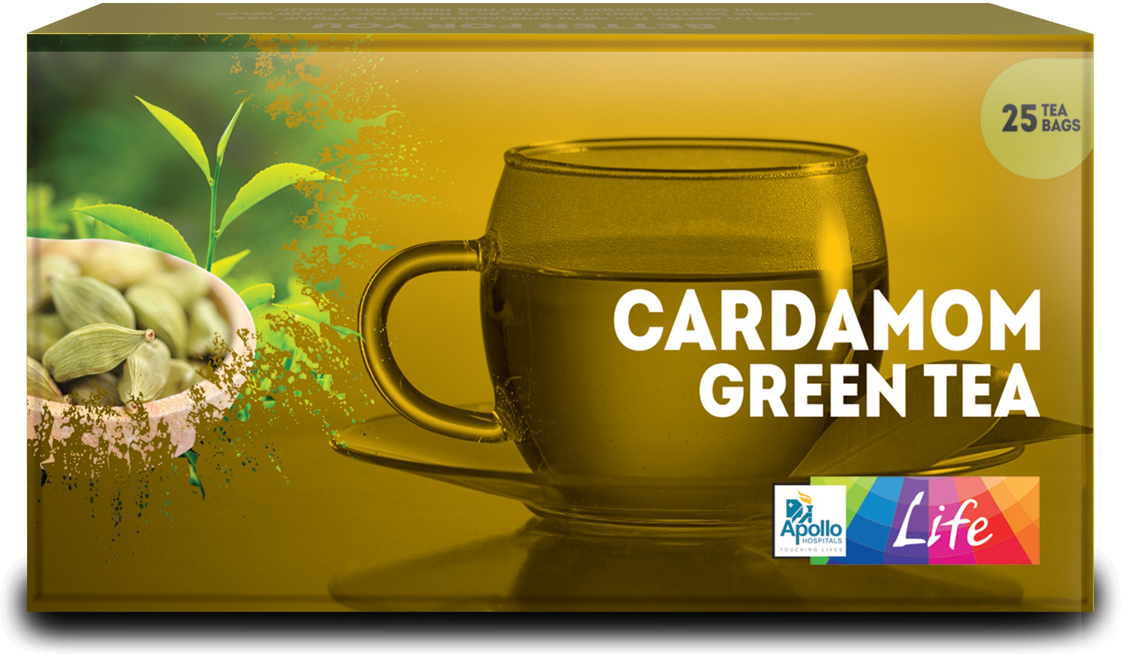 Apollo Pharmacy Cardamom Green Tea