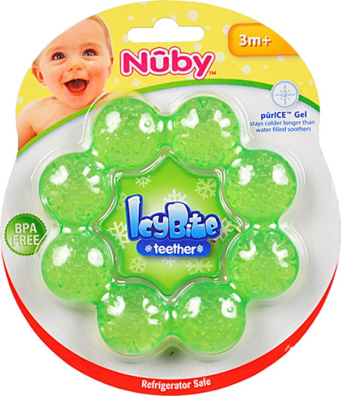 Nuby Icy Bite Ring Teether Teether(Green)