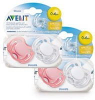 Philips Avent Freeflow Pacifiers Pacifier(White, Pink)