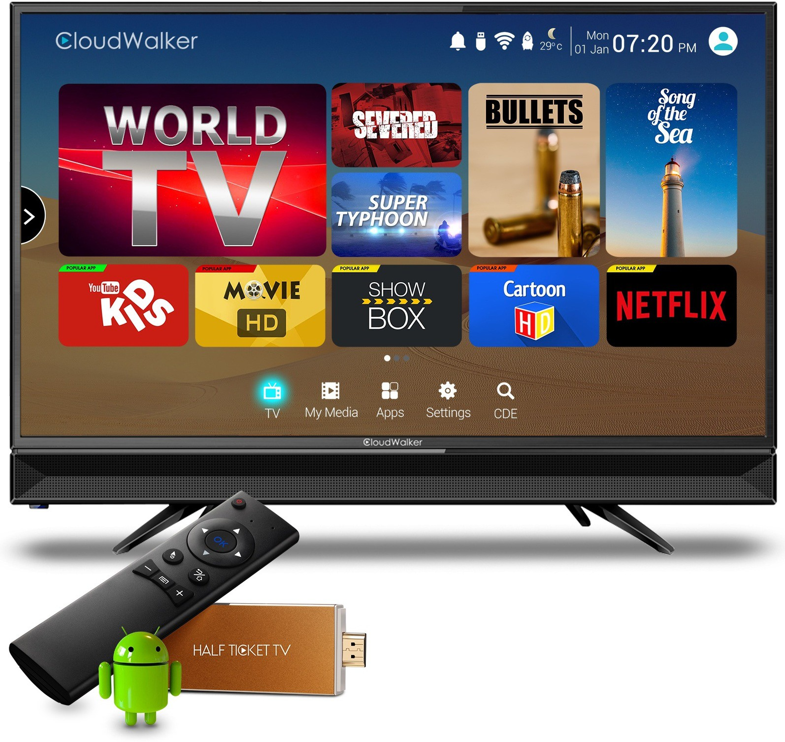 CLOUDWALKER 24AH 24 Inches HD Ready LED TV