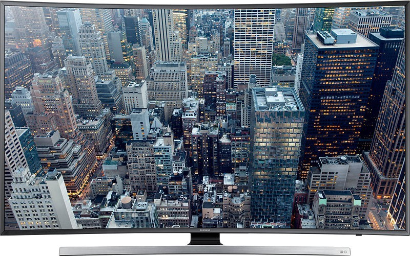 SAMSUNG 139.7cm (55) Ultra HD (4K) Smart, Curved LED TV 55JU7500