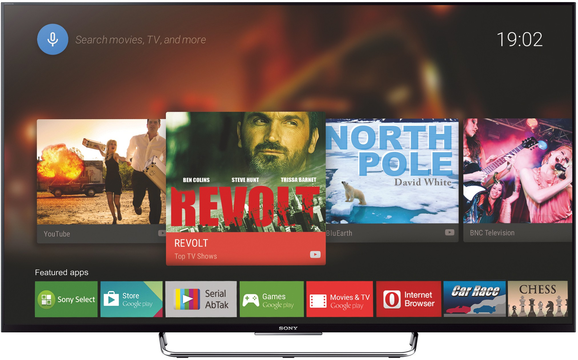 View Sony BRAVIA KDL-55W800C 139cm (55) Full HD 3D LED Android TV Price Online(Sony)