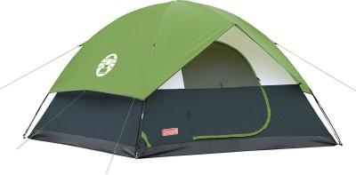 Coleman Sundome 6 Tent - For 6 People Size: 10 Feet X 10 Feet : Centre Height 6 Feet(Green- Black)