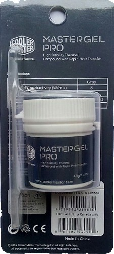 Cooler Master MasterGel Pro High Stability Thermal Compound with Rapid Heat Tranfer Liquid Metal Based Thermal Paste(40 g 8 W/mK)