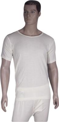 Warmline Pure Woolen Half Sleeve - Round Neck Vest Men's Top