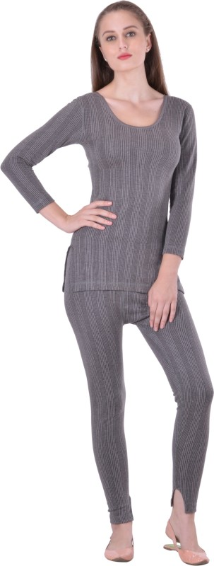 Lux Inferno Round Neck Long Top & Trouser Set Women's Top - Pyjama Set