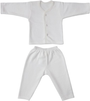 Littly Front Open Thermal Baby Boy's Top - Pyjama Set