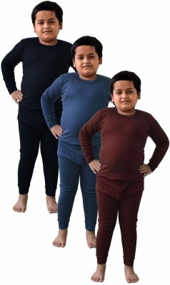 King Oswal Thermal Inner Set For Kids Baby Boy's Top - Pyjama Set