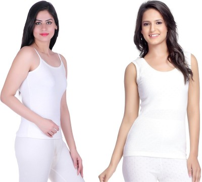 La Melodia Dreamy and Glitter Thermal Pack of 2 Women's Top