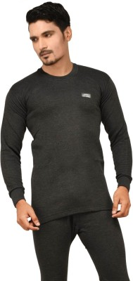 Lux Cottswool Full Sleeve Round Neck Black Thermal Mens Top