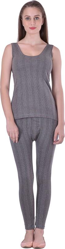 Lux Inferno Round Neck Slips Top & Trouser Set Women's Top - Pyjama Set