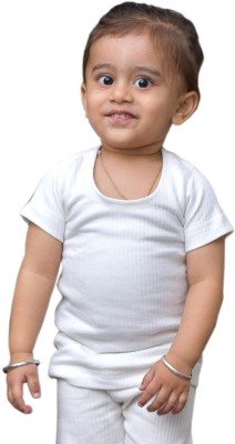 Warm Up Top For Boys(White)