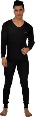 Lux Inferno Plus Black Full Sleeves V - Neck Men's Top - Pyjama Set