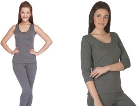 Jiyana Thermals Pack of 2 Women's Top