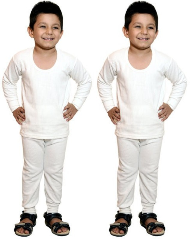Bodysense Top - Pyjama Set For Boys(White)