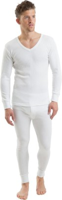 Ice Bear White Thermal Wear Set (Upper and Lower) Men's Top - Pyjama Set