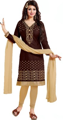 Stella Creation Cotton Embroidered Salwar Suit Dupatta Material