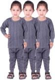 Unix Top - Pyjama Set For Girls (Grey)