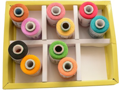 udhayam Multicolor Thread(500 m Pack of10)