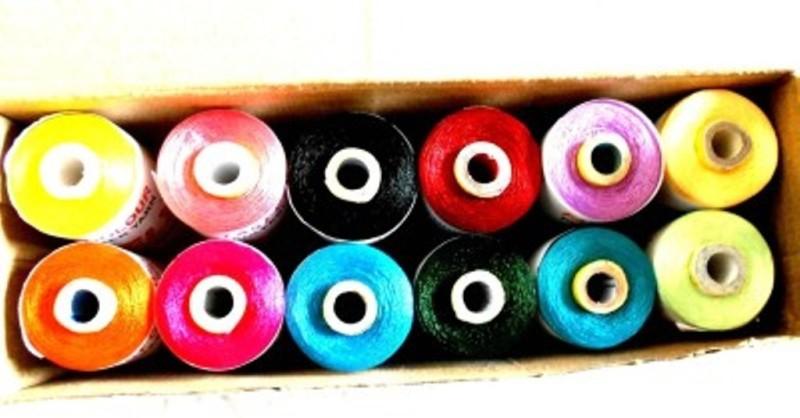 SIDHIVINAYAK ENTERPRISES Multicolor Thread(24000 m Pack of12)