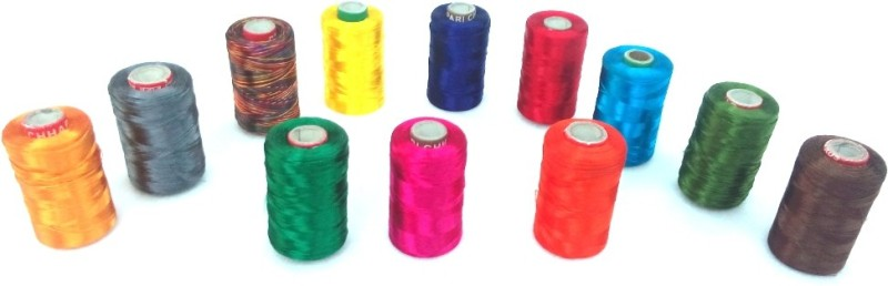 Vardhman multicolor Thread(1000 m Pack of12)