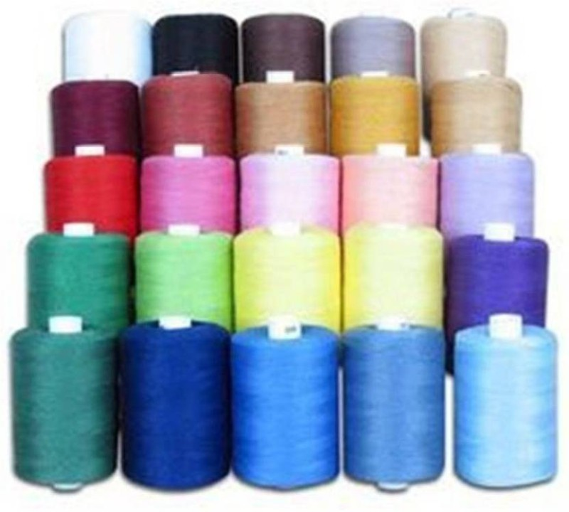 Hariom Enterprises Multicolored Thread(1000 m Pack of25)