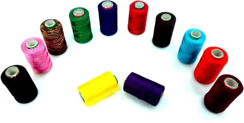 Vardhman multicolor Thread(1000 m Pack of12)