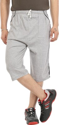 Gumber Solid Men's Three Fourths