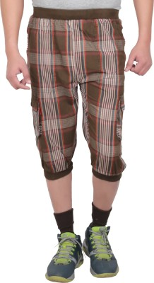 Leg-In Checkered Men's Three Fourths