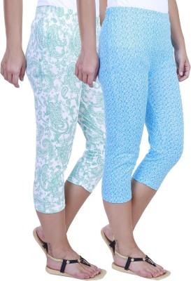 Eshelle Fashion Women,s Green, White, Blue Capri